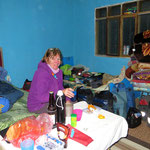 Im kleinen Ort Coipasa dürfen wir privat übernachten.