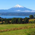 Der imposante Vulkankegel des Osorno.