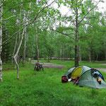 Keine anderen Campinggäste dafür um so mehr Mücken.