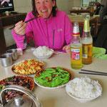 Auf langen Touren ist das Mittagessen für uns sehr wichtig (wenn möglich mit Bier).