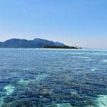Vor Mabul Islands, einem sehr schönen Tauch- und Schnorchelgebiet.