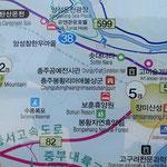 Auch in Korea gibt es elend lange Wortwürmer (in der Bildmitte).