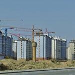Es wird sehr viel gebaut in China. Meist werden Wohnblöcke im Dutzend hochgezogen.