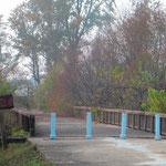 """""""Brücke ohne Wiederkehr"""", hier wurden in der Vergangenheit Gefangene ausgetauscht."""