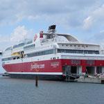 """Die """"MS Stavangerfjord"""", erst seit drei Wochen in Dienst."""