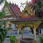 Einer der vielen Tempel in Vientiane.