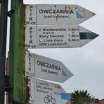 Nach und nach entstehen neue Radwege (hier alte Markierungen).
