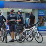 Polizei auf Fahrrädern in Brisbane.