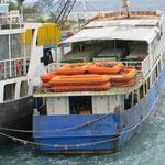 Manche Fähren sehen nicht so vertrauenserweckend aus.