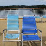 Neuer und alter Liegestuhl auf der MS Trollfjord. 1993 Grösse S, 2013 Grösse XL, 2033 Grösse XXX . .?