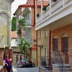 In der schön renovierten Atstadt von Tiflis.