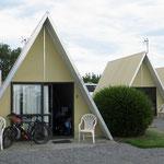 """Ein """"Hüsli"""" ganz für uns allein auf dem Campingplatz in Rangiora."""