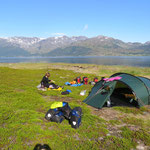 Campen am Langfjord.