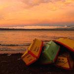 Abendstimmung in Entre Lagos am Lago Puyehue.