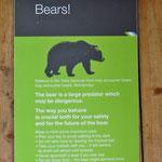 Warnun vor Bären im Nationapark Hohe Tatra.