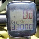 33'000 gefahrene Kilometer in fast drei Jahren.