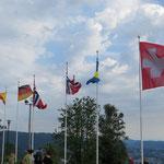 Da hätte Ueli Maurer seine Freude: Die Schweizerfahne ist mit Abstand die grösste!