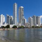 Boca Grande, der beliebte Badestrand in Cartagena.