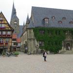 Rathausplatz von Quedlinburg.