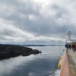 Oft sind die Passagen zwischen den Inseln nur sehr schmal.