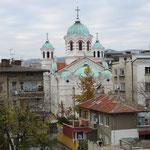 Kirche von unserem Zimmerfenster in Stara Zagora aus