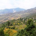 Auf einer schönen Tagestour, nord-westlich von Pokhara.