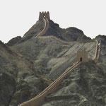 Die Grosse Mauer bei Jiayuguan.