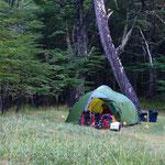 Zelten im Nationalpark Cerro Castillo.