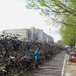 Tausende Fahrräder in der Stadt. Und überall Radwege oder -streifen.