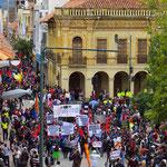 1. Mai-Kundgebung in Cuenca.