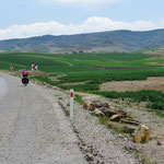 Erstaunlich viel Grün auf dem Weg nach Kappadokien.