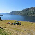 Nach längerem Suchen einen superschönen Zeltplatz für uns allein gefunden!
