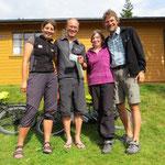 Mit Conny und Claudio auf dem Zeltplatz in Molde.