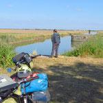 In der Sumpfregion Marais Poitevin unterwegs.