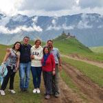 Wir geniessen den Ausflug sehr. Qeti, Gela, Hella, Bea und Pit.