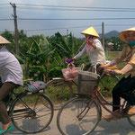 In Vietnam wird mehr Rad gefahren als in den von uns besuchten Ländern vorher.