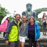 Chiyoko nimmt sich viel Zeit für uns. Herzlichen Dank für die interessanten Ausflüge!