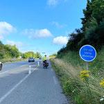 Wer fährt schon freiwillig auf der Autobahn Velo? Hier nicht anders möglich (bei Saint Brieuc).