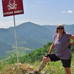 Bewachte Grenze zu Aserbeidschan, Region Berg Karabach.