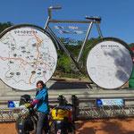 Der Radweg ist sehr gut ausgeschildert und gut dokumentiert.