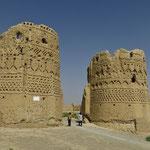 Die alte Festung in Abarkooh, gänzlich aus Lehm gebaut.