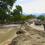 In Campoalegre hat der Fluss grosse Überschwemmungsschäden verursacht.