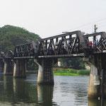 Die berühmte Brücke am Kwai.