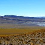 Blick vom Paso Sico Richtung argentinische Grenze.