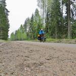 Naturstrassen sind keine Seltenheit in Schweden.