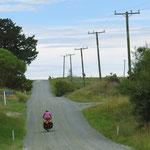 Auf Nebenstrassen unterwegs, hier kurz vor Christchurch.