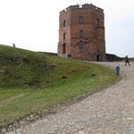 Turm der ehemaligen Herzogburg über Vilnius.