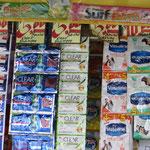 Shampoo, Duschgel, Waschmittel u.v.m. werden im Portionenbeutel verkauft. Oft fehlt das Geld für grössere Mengen.
