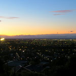 Christchurch bei Nacht von unserem temporären Heim aus.