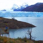 Der Gletscher ist an der Abbruchstelle 5 Kilometer breit.